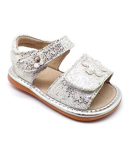 022a5587e578 Mooshu Trainers Silver Sparkle Ready Set Bow Squeaky Sandal - Girls ...