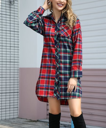 flannel dress with boots
