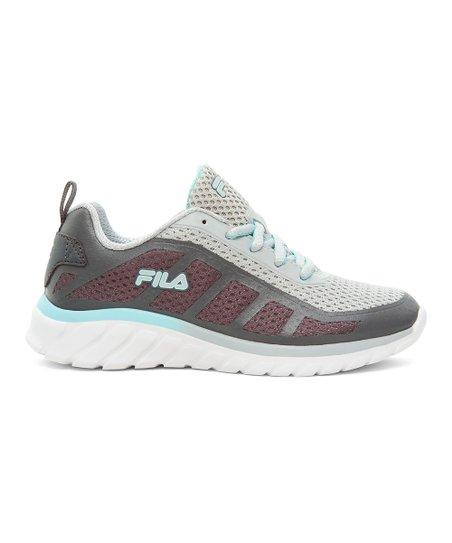FILA Gray & Teal Diskize 2 Running Shoe Girls | Zulily