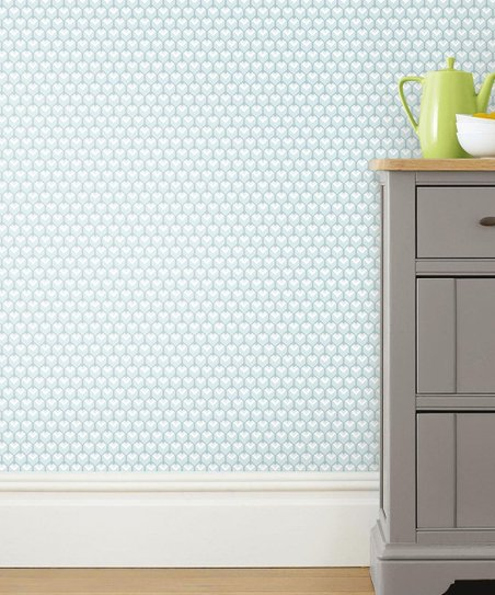 Roommates Light Blue Mid Century Geometric Peel Stick Wallpaper Best Price And Reviews Zulily