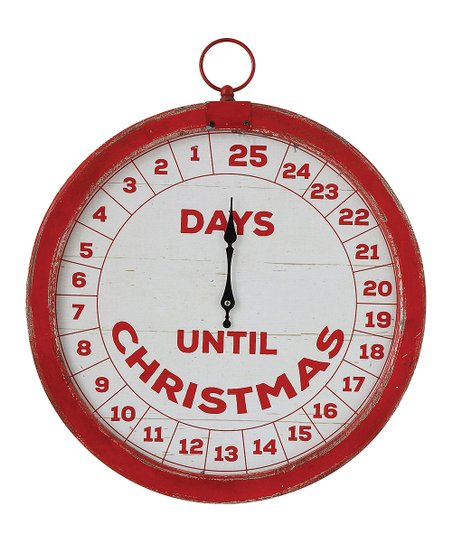How Many Days Until Christmas Countdown.Red Cream Days Until Christmas Countdown Wall Art