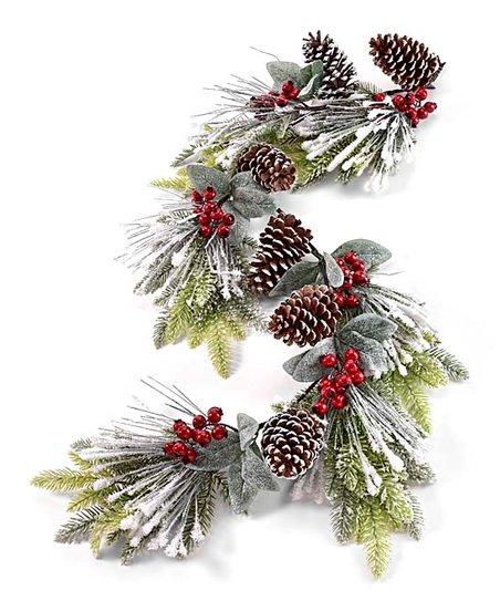Green White Christmas Garland