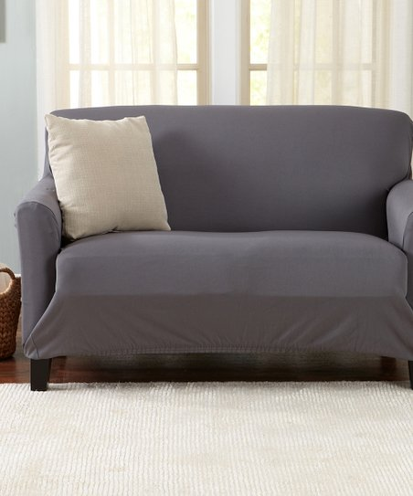 Home Fashion Designs Charcoal Twill Brenna Furniture Slipcover Best Price And Reviews Zulily