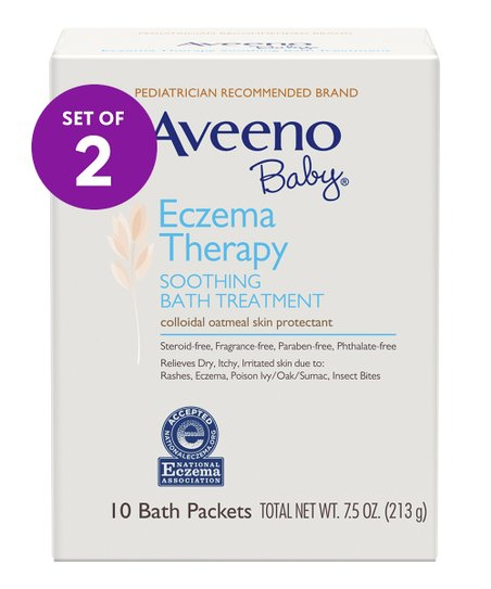 AVEENO Baby 10-Ct  Eczema Therapy Soothing Bath Treatment - Set of Two
