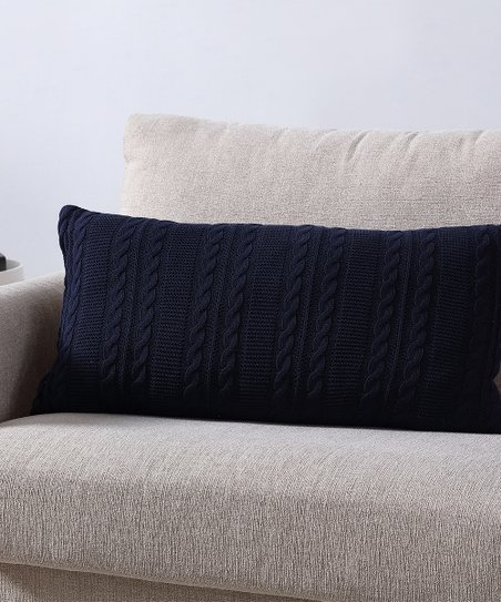 Stupendous Vcny Home Navy Cable Knit Throw Pillow Zulily Theyellowbook Wood Chair Design Ideas Theyellowbookinfo