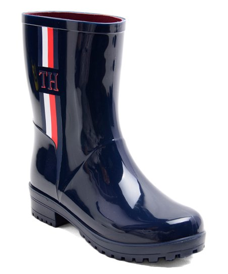 excellent quality exclusive deals united states Tommy Hilfiger Navy Milia Rain Boot - Women | Zulily
