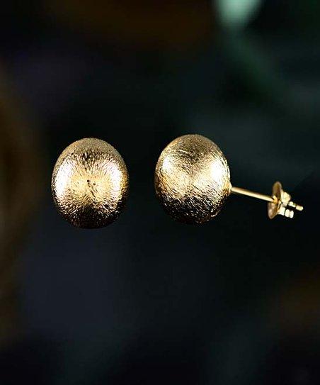 Barzel 18k Gold Plated Textured Ball