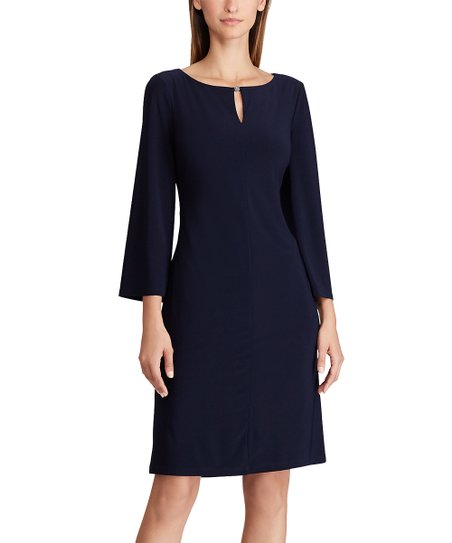 Lauren Ralph Lauren Women/'s Jersey Shift Dress