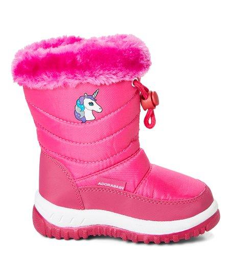 Fuchsia Unicorn Adorababy Snow Boots