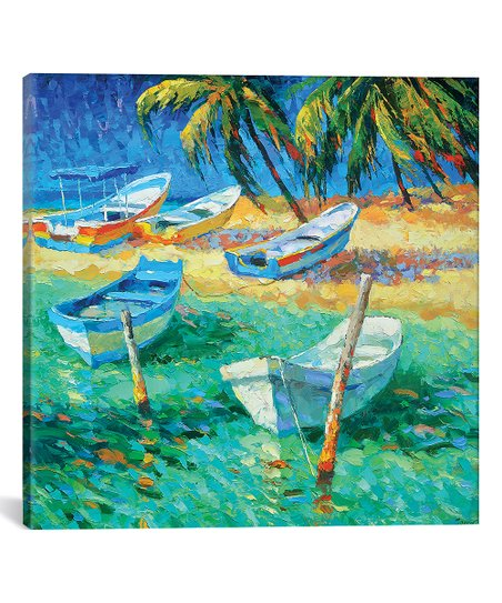 Dmitry Spiros Dmitry Spiros Caribbean Day Wrapped Canvas