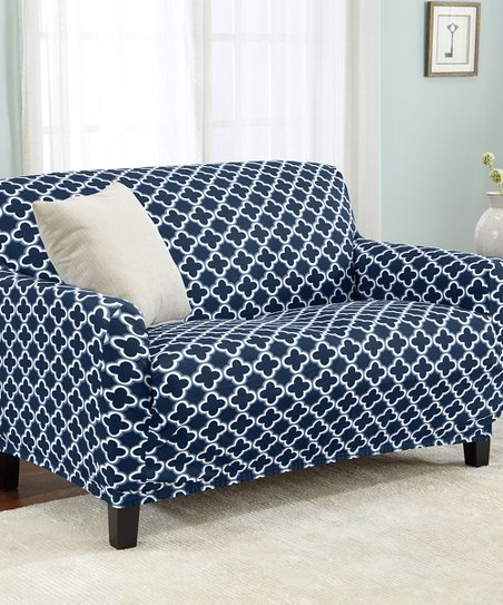 Home Fashion Designs Navy Twill Brenna Furniture Slipcover Zulily