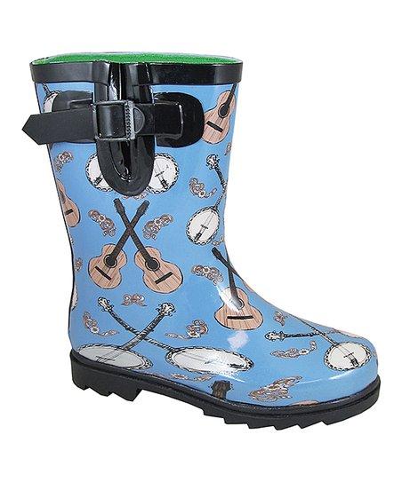 Smoky Mountain Ladies Banjo Blue Rubber Boots