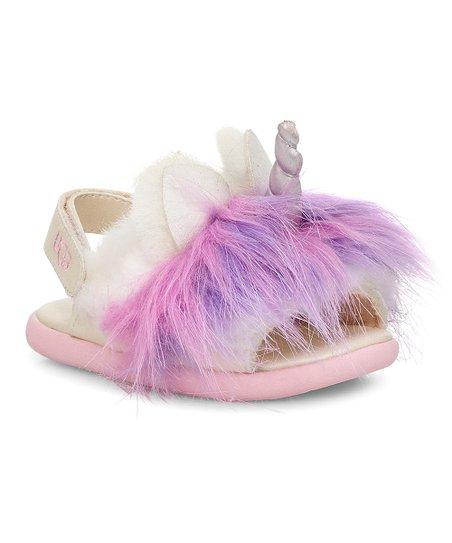 UGG® Rainbow Unicorn Faux Fur Sandal