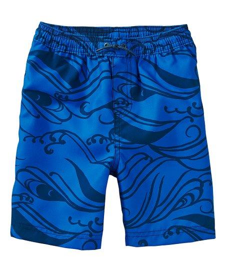 1efc605c Tea Collection Blue Big Kahuna Board Shorts - Toddler & Boys