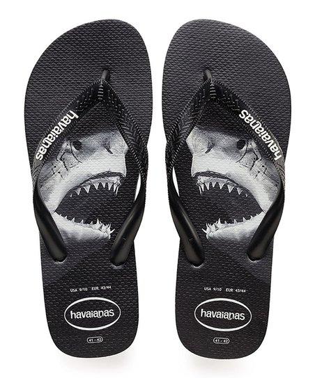 Havaianas Black \u0026 Gray Shark Flip-Flop