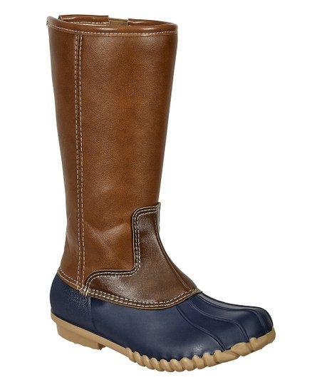 OUTWOODS Navy \u0026 Tan Tall Duck Boot