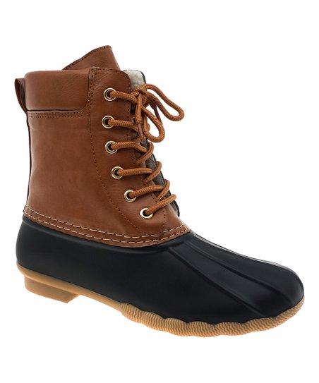 OUTWOODS Black \u0026 Tan Duck Boot - Women