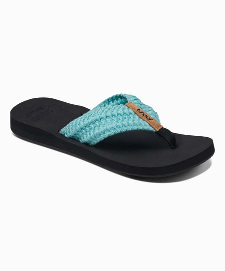 Reef Aqua Cushion Threads Flip Flops Women