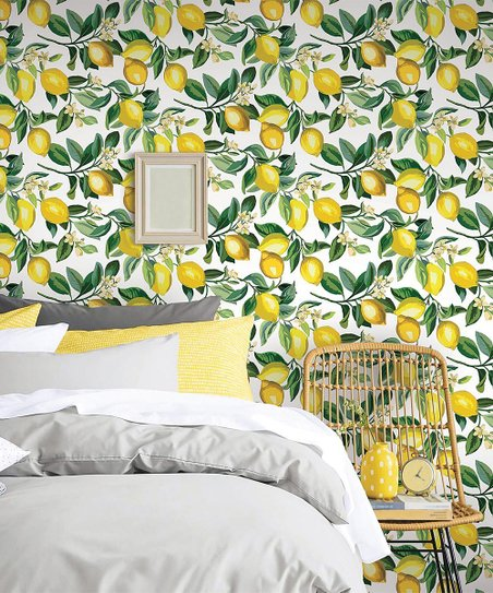 Roommates White Yellow Lemon Zest Peel Stick Wallpaper Best Price And Reviews Zulily