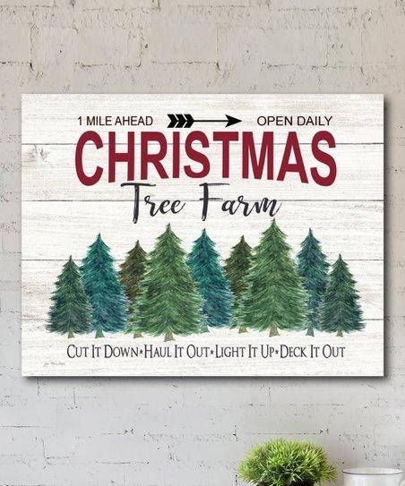 Christmas Tree Farm Wred Canvas