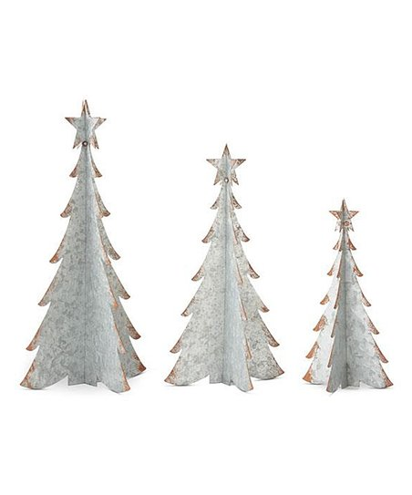 Metal Christmas Tree.Metal Christmas Tree Set Of Three