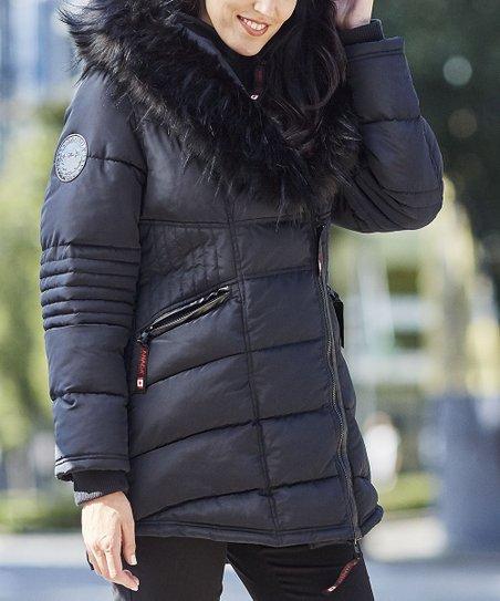 Canada Weather Gear Blackblk Oversize Faux Fur Hood Long Puffer Jacket Women & Plus