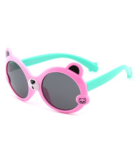 5194ba3cdc96 love this product Pink & Green Little Bear Polarized Sunglasses