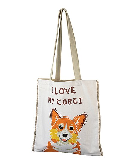 Cotton Tote Bag I Love My Corgi