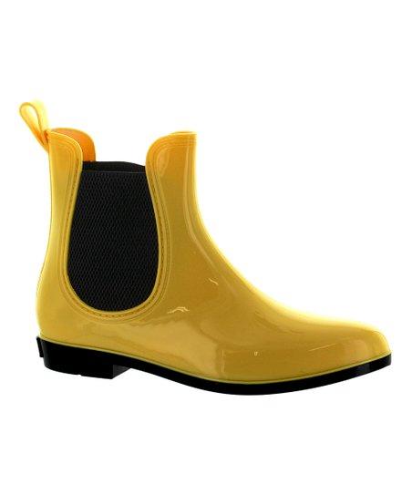 Seven7 Yellow Dover Chelsea Rain Boot