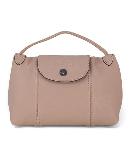 Longchamp Powder Pink Le Pliage Cuir Leather Crossbody Bag