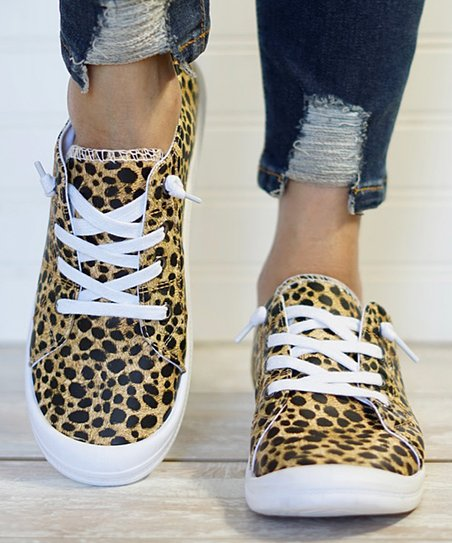 Mata Shoes Brown Leopard Print Summer