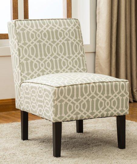 Astounding Best Master Furniture Gray Cream Geometric Accent Chair Creativecarmelina Interior Chair Design Creativecarmelinacom