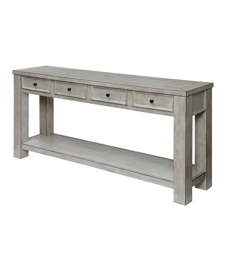 Peachy Furniture Of America White Creek Rustic Sofa Table Zulily Beatyapartments Chair Design Images Beatyapartmentscom