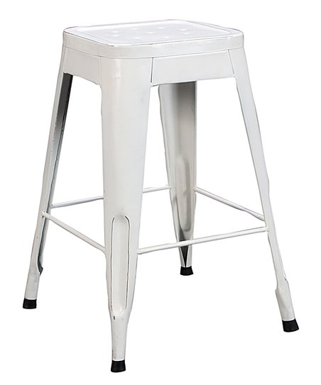 Magnificent Lexicon White Metal Stool Set Of Four Spiritservingveterans Wood Chair Design Ideas Spiritservingveteransorg