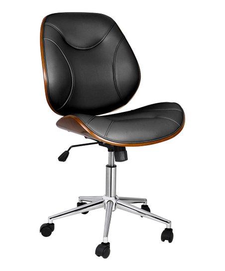Incredible Porthos Home Black Cherry Wood Armless Izan Swivel Chair Creativecarmelina Interior Chair Design Creativecarmelinacom