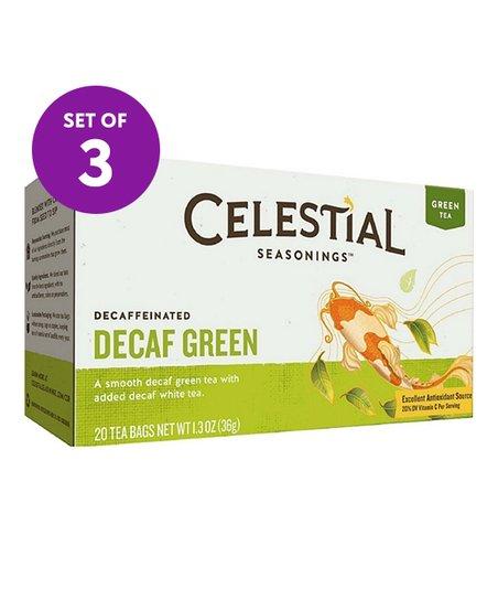 Celestial Seasonings 20-Ct  Decaf Green Tea - Set of 3