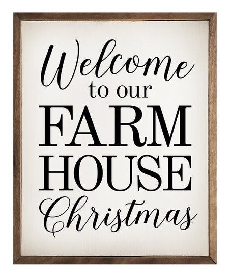 Kendrick Home White Welcome To Our Farmhouse Christmas Framed Wall Sign Best Price And Reviews Zulily