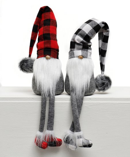 Ziabella Red Black Buffalo Plaid Gnome Shelf Sitter Set Of Two Best Price And Reviews Zulily