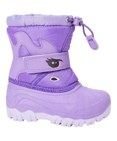 Adorababy Purple Unicorn Snow Boot