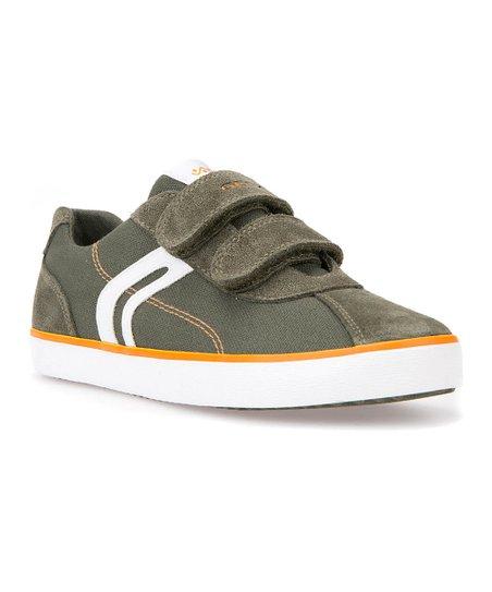 Geox Military Green & Orange Kilwi Sneaker Boys