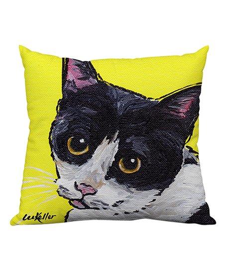 Lilipi Hippie Hound Studios Yellow Cat Tuxedo Throw Pillow Best Price And Reviews Zulily