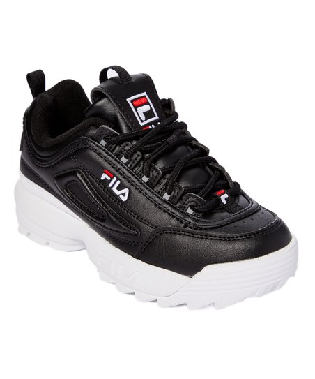 FILA Black & White Disruptor II Sneaker Boys
