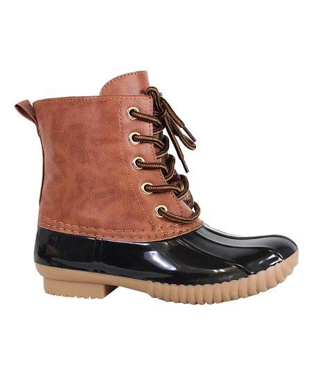 Brown Luna Duck Boot - Kids