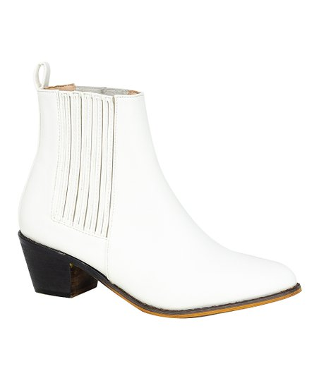 Chase \u0026 Chloe White Lolo Ankle Boot