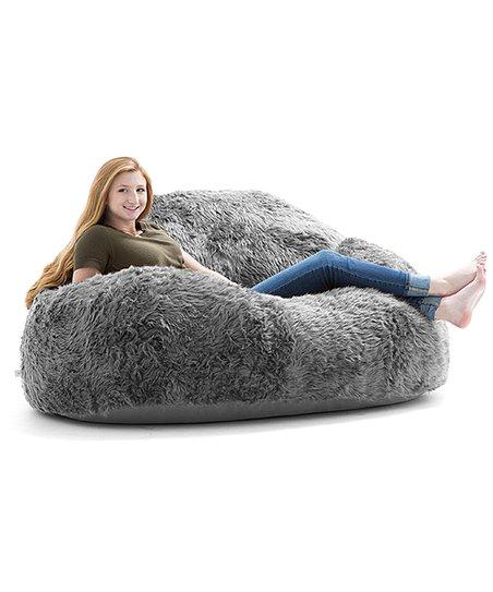 Terrific Big Joe Gray Chillum Loveseat Furry Beanbag Chair Zulily Forskolin Free Trial Chair Design Images Forskolin Free Trialorg
