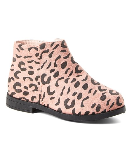 Ositos Shoes Pink Leopard Ankle Boot