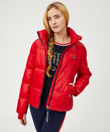 Tommy Hilfiger Womens Flag Patch Puffer