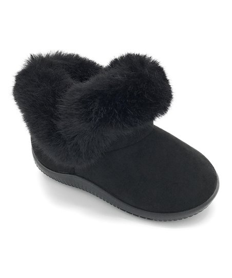 Black Faux-Fur Ankle Boot - Girls