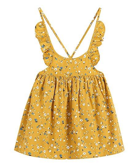 Lil Cactus Girls Smocked Sleeveless A-Line Dress