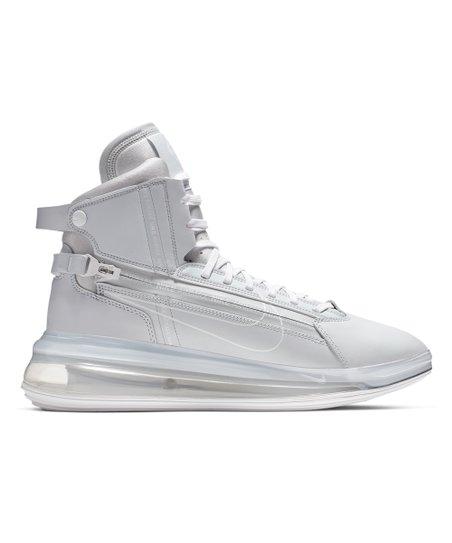 Nike Pure Platinum & White Air Max 270 SATRN Leather Basketball Sneaker Men